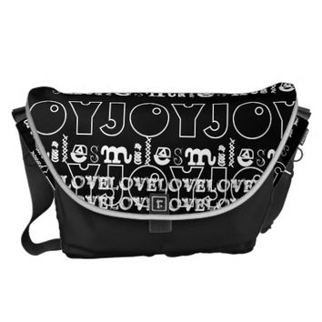 RICKSHAW BAG BLACK WHITE LOVE SMILE JOY HAVIC ACD
