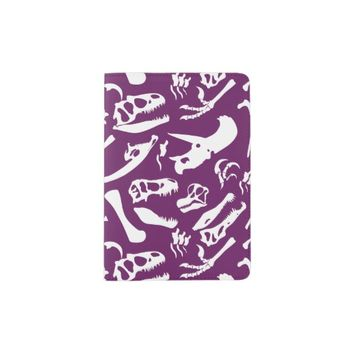 Dinosaur Bones (Purple) Passport Holder