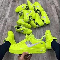 NIKE AIR FORCE 1 Hot Sale Couple Green Casual Sneakers