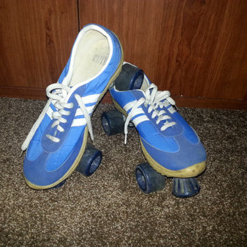 Stunning Retro Vintage 1970s Nash Cruisers Blue Indoor / Outdoor Roller Skates - Size 11/13