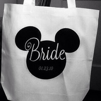 Personalized Tote with Mickey Mouse Head