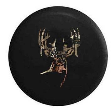 Big Rack Hunting Buck RV Camper Jeep Spare Tire Cover