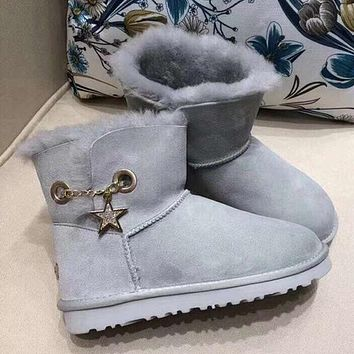 UGG Women Fashion Casual Winter Half Boots Shoes