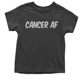 Cancer AF As F-ck Zodiac Youth T-shirt