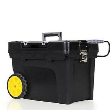 Stanley Pro Mobile Wheel Contractor Tool Box Chest With Removable Organizer