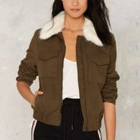 Join the Ranks Faux Fur Jacket