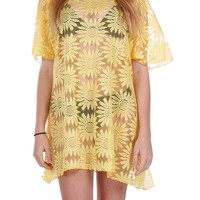 Yellow Floral Bathing Suit Coverup