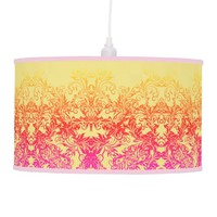 Decorative Baroque Damask Gradients Ornaments Ceiling Lamp