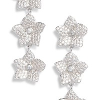 kate spade new york blooming pavé linear earrings | Nordstrom