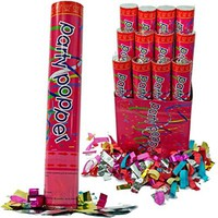+SALE+ 12 Pack Large (12 Inch) Confetti Cannons Air Compressed Party Poppers Indoor and Outdoor Safe Perfect For Any Party New Years Eve or Wedding Celebrations Shoot Streamers 10 ft