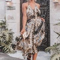 Melody Black and Gold Baroque Dress