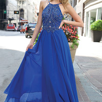 Beaded Adorned Chiffon Gown 92605 - Prom Dresses