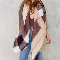 All or Nothing Plaid Blanket Scarf