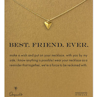 Dogeared Best Friend Ever Pyramid Heart Necklace