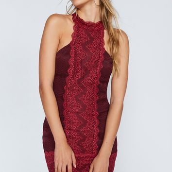 Free People Natasha Lace Bodycon Dress