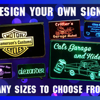 Motorcycle Personalized Man Cave Acrylic Sign