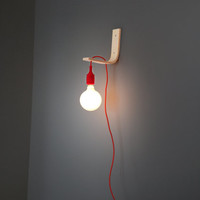 Angle Pendant Lamp: Wall Lamp with Colored Fabric Cords. Inaugural Sale!