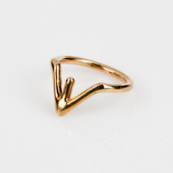 Simple Gold Ring,Stack Ring, Stacking Ring,Gold Ring, Thin Gold Ring, Simple Gold Ring, Dainty Gold Ring-Friendship Ring