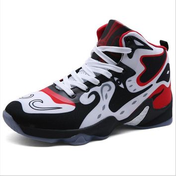 Men's Professional Basketball Shoes Outdoor Sports Sneaker Durable Rubber Wear Resistant Training Shoes ankle boots men