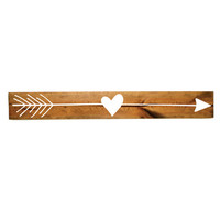 Heart Arrow Wood Sign - Girls Bedroom Decor, Wall Decor, Reclaimed Barn wood, Wood Home Decor, Gift for Her, Valentines Day Gift