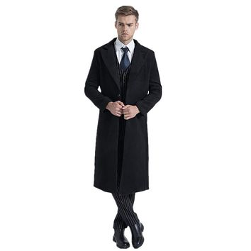 2016 winter men's leisure High quality wool trench coat jackets Men business wool Long Casual Coat Men's Cashmere windbreaker