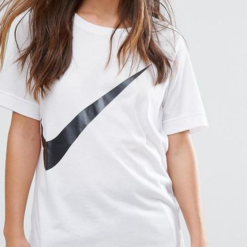 Nike Swoosh Big Logo White Tee T-shirt One-nice™