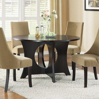 "Dark Espresso Top 52""Dia Dining Table"