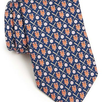 Men's Vineyard Vines New York Mets Tie, Size Regular - Blue