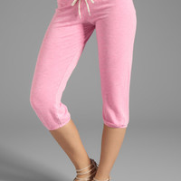 MONROW French Terry 3/4 Vintage Sweats in Neon Pink from REVOLVEclothing.com