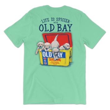 Old Bay Cooler with Puppies (Island Reef) / Shirt