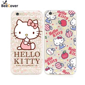 BeeCover For Apple iPhone 8 7 Case Cover Hello Kitty Printed Cell Phone Cases for Iphone7 5 5S SE 6 6S 7 Plus 6Plus  fundas