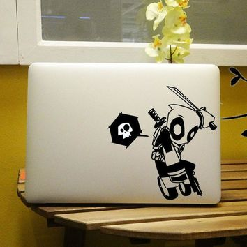 "Deadpool Dead pool Taco  Graffiti Style Vinyl Laptop Decal for Notebook Apple MacBook Air Sticker Pro Decal Retina Skin 11"" 12"" 13"" 15 inch AT_70_6"
