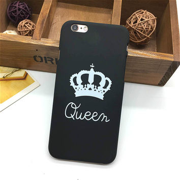 Fashion Brand King Queen iPhone Case