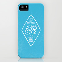 TALK ABOUT LOVE iPhone & iPod Case by Pocket Fuel