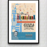Vintage Disneyland The Happiest Place On Earth Attraction Poster Reprint -- Not Framed 18x24 - Buy 2 Get 1 Free!