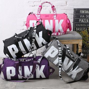 DCCKHI2 Victoria's secret Pink Sports and fitness yoga with short travel bag Tagre-