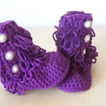 baby girl clothing, baby crochet boots, ugg style boots