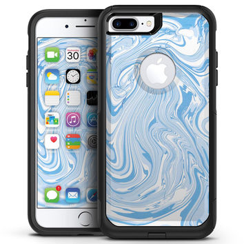 Marbleized Swirling Blues - iPhone 7 or 7 Plus Commuter Case Skin Kit
