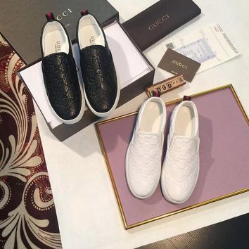 Ready Stock Gucci Men's Gg Guccissima Leather Fashion Sneakers Shoes #430