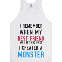 Monster-Unisex White Tank