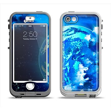 The Glowing Cloudy Planet Apple iPhone 5-5s LifeProof Nuud Case Skin Set