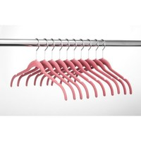 ULTRA-SLIM VELVET SHIRT HANGERS - SET OF 10- Pink