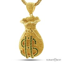 King Ice Gold CZ Custom Money Bag Pendant | Hip Hop Jewelry | Urban Style Pendant