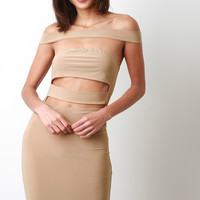 Wide Strappy Bodycon Dress