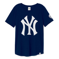 New York Yankees Bling Tee - PINK - Victoria's Secret