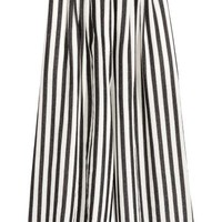 Wide trousers - Black/White/Striped - Ladies | H&M GB