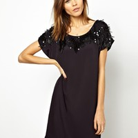 French Connection Icicle Storm Dress with Embellishment