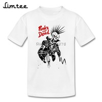 Punk Not Dead The Exploited Short Sleeve T-shirt Kids 4T-8T Top Designing Camisa Toddler Pure Cotton O Neck T Shirt For Boy Girl