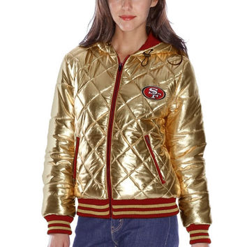 Women's San Francisco 49ers Gold Extra Pointed Quilted Jacket