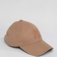 New Era 9Forty Cap in Rose Pink with NY Embroidery at asos.com
